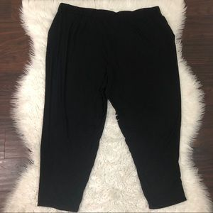 Eileen Fisher Black Pull Over Pants Sz 3X